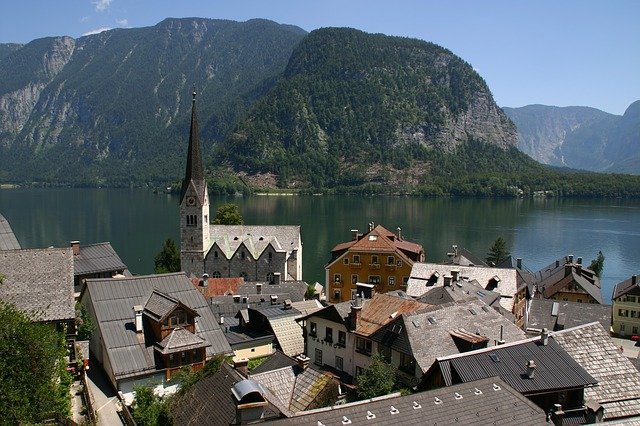 Aerial view of Hallstatt